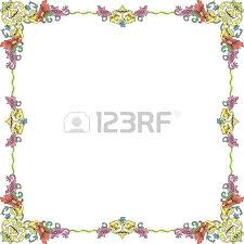 historical frame in pastel color with floral ornaments in square