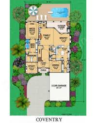coventry narrow house plan luxury floor plans