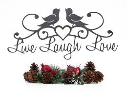 live laugh love birds patio decor wall decor lake