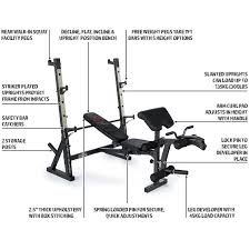 marcy weight bench with squat rack bench decoration