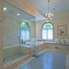 bathroom glass tile ideas if my glass tiles would be less slippery than the polished