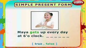simple present form english grammar exercises for kids english