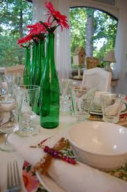 spring summer table setting tablescape with emma u0027s garland