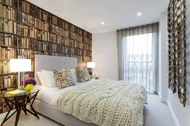 library bedroom 15 inspiring wallpapered bedrooms