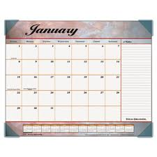 desk pad calendar 2018 at a glance 89702 22 x 17 marble burgundy monthly january 2018