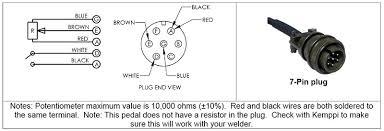 ssc remote foot pedal for kemppi tig welders 7pin plug r11f ebay