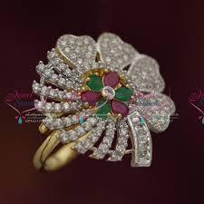buy online rings images Fr5711 gold plated ad free size adjustable sparkling finger rings JPG