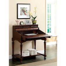 Contemporary Secretary Desk by Furniture Of America Breston Cherry Secretary Desk With Fold Out