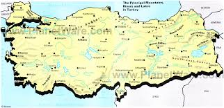 world map mountains rivers deserts map of the principal mountains rivers and lakes in turkey
