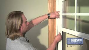 Peachtree Window Parts by Double Hung Window Balance Spring Replacement Youtube