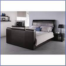 bed with tv in footboard aarons home design ideas