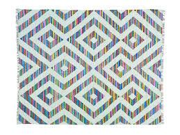 Cotton Weave Rugs 8 U0027x10 U0027 Cotton And Sari Silk Flat Weave Kilim Geometric Design Rug