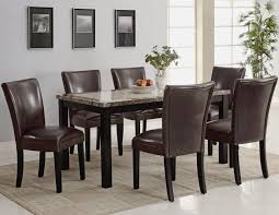 Marble Dining Room Sets Carter Dark Brown Wood And Marble Dining Table Set Steal A Sofa