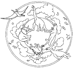 dinosaurs coloring pages dinosaurs mandala coloring pages