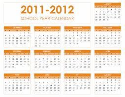 2011 2012 calendar for excel 2010 academic calendars