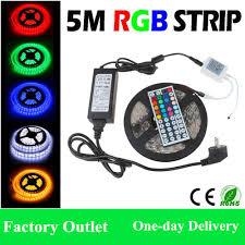 Led Light Strip Kits by 5m 300 Leds Waterproof Led Strips Rgb Lights 5050 Smd 44key