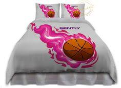 Personalized Girls Bedding by Girls Basketball Bedding Pink Comforter Basketball Bedding