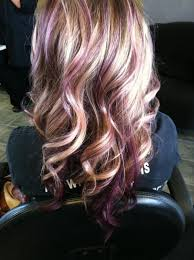 what do lowlights do for blonde hair this is awesome blonde with purple lowlights by selma hair