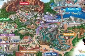 map of california adventure printable map of disneyland