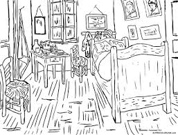 gogh chambre à arles coloriage la chambre à arles par la chambre à arles coloriages à