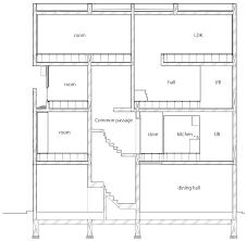 angled fins flank the windows of kino architects u0027 tokyo apartment