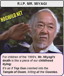 Mr Miyagi Meme - pat morita dead karate kid henry winkler jokes jokes and pictures