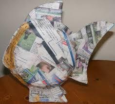 paper mache ideas fish ornaments