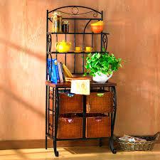 Bakers Shelf Rack Accessories Beautiful Bakers Racks Kitchen Shelves For Heavy