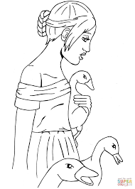 the goose coloring page free printable coloring pages