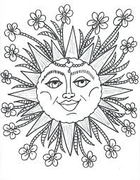 coloring pages sun coloring pages free to sun and moon mlp