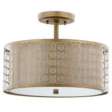 gold flush mount light safavieh giotta 3 light antique gold semi flush mount light good