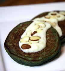 blueberry pancake recipe blueberry banana u2014 and spinach u2014 pancakes with sweet cream sauce
