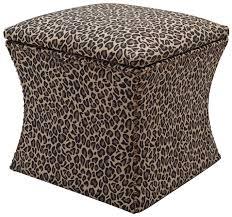 Fabric Storage Ottoman by Leopard Print Ottomans Storage Dark Finish Bed Ottoman Bench With