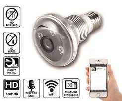 motion detector light with wifi camera nucam 720p hd light bulb camera ir night vision motion detection ip