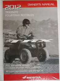 2012 honda fourtrax recon es trx250te owners manual 31hm8900