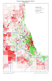 University Of Chicago Map by Change In Population Chicago Region 2000 2010