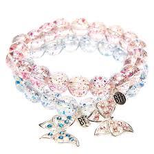 butterfly bracelet charms images Best friends glittery butterfly charm beaded stretch bracelet jpg