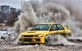 mitsubishi yellow cars dirt vehicles mitsubishi lancer evolution x wrc yellow