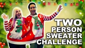 two person sweater arcade challenge