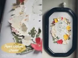 Make Your Own Paper Flowers - paper flower frame