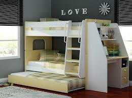 Bunk Beds With Desk Wooden Olympic By Sleepland Beds - White bunk bed with mattress