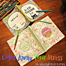 fun cat coloring books reduce stress u2013 cat wisdom 101