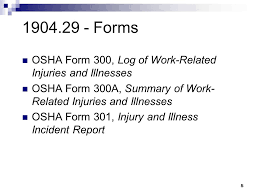 osha 300a form injury and illness reporting is important for