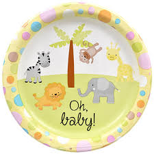 baby plates bulk oh baby neutral gender paper party plates 9 in 18 ct