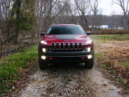 jeep cherokee lights 2016 jeep cherokee trailhawk review a wrangler for the suburban set