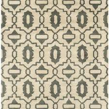 Quatrefoil Outdoor Rug Courtyard Poolside Dark Grey Beige Indoor Outdoor Rug 5 U00273 X 7 U00277