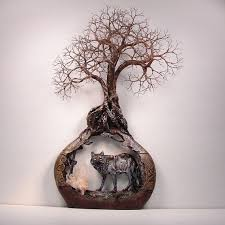 tree of life home decor wire tree of life quartz crystal and the wolf wall decor diy