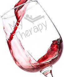 amazon com my therapy funny wine glass 13 oz best birthday