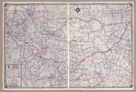 Map Montana Rand Mcnally Road Map Montana David Rumsey Historical Map