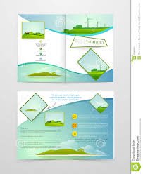 country brochure template brochure template or flyer for tour and travels stock image
